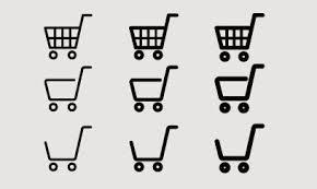 Ecサイトの購入決済ボタンにショッピングカートお買い物かごの