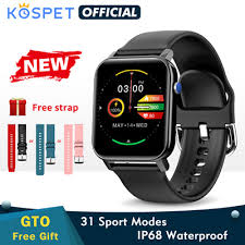 Qoo10 - 2020 <b>KOSPET GTO Smartwatch</b> Men Fitness Tracker Heart ...