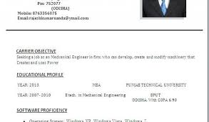 Diploma Mechanical Engineering Resume Samples Sample Resume For