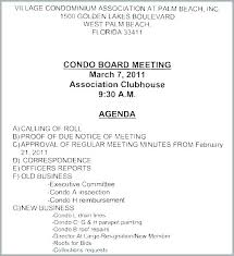 Corporate Annual Meeting Template Homeowners Association