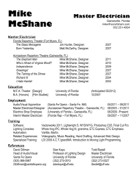 Gallery Of Master Resume Template