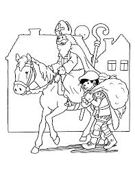 Nieuw Kleurplaat Sinterklaas En Zwarte Pieten Kleurplaat