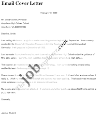 Email Resume Cover Letter Template Sop Example