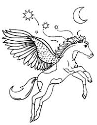 Pegasus Coloring Page Cut Print Paste Animal Coloring Pages