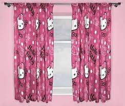 kids bedroom for girls hello kitty. Image Is Loading HELLO-KITTY-SOMMERWIND-PINK-CURTAINS-66-034-x- Kids Bedroom For Girls Hello Kitty .