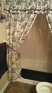 shower curtains with valance and tiebacks items similar to made order custom curtain 3