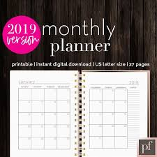 Indesign Calendar Template Gorgeous Monthly Planner InDesign Template Stationery Templates