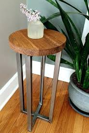 reclaimed wood accent table reclaimed wood round side table accent table end table by rustic reclaimed wood accent tables