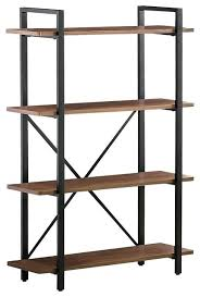 making industrial furniture. Industrial Bookcase Wood Wheels Furniture Bookshelves Style With 4 Shelves And Metal Frame Bookcases Making