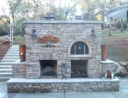 outdoor fireplace with pizza oven the family wood fired outdoor brick pizza oven outdoor fireplace in