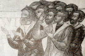 Просвещение в xvii веке История России Деталь фрески с изображением семьи гостя Гр Никитникова в церкви св Троицы в Москве