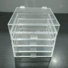 clear multi drawers acrylic makeup storage box uk