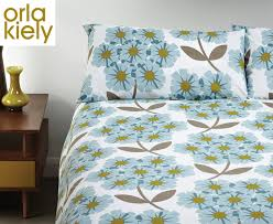 orla kiely rhododendron print standard pillowcases 2 pack soft cerulian catch co nz
