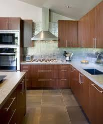 Slate Floor Tile Kitchen Metallic Tile Backsplash With Slate Floor Tiles And Sapele
