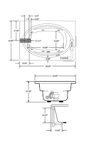 jacuzzi bathtub dimensions jacuzzi j4t6042wlb1w white 60 x 42 signature drop in whirlpool