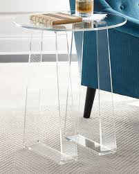 Handcrafted side table. Clear acrylic. 20