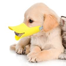 Pawliss Dog Mouth Cover Duck Mouth Shape Anti Bite Muzzle