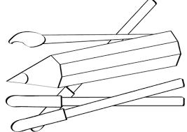 Disegno Di Matite Pennello E Pennarelli Cose Per Crescere