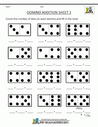 Kindergarten Number Worksheets Domino Addition Free Vertical For ...