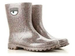 Details About Chiara Ferragni Womens Mid Calf Boots Multicolor Glitter Rubber Size Uk 6 It 39