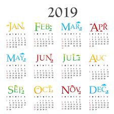 New Year 2019 Calendar Calendar 2019 With Holidays 2019