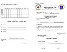 Report Card Grade Iv Vi