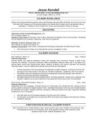 Culinary Resume Template Simple Culinary Student Resume Template Culinary Resume Templates