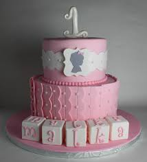 Silhouette First Birthday Cake Lil Miss Cakes