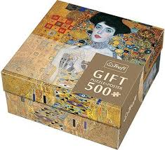 trefl portrait of adele bloch bauer 500 piece gustav klimt jigsaw puzzle and poster gift set
