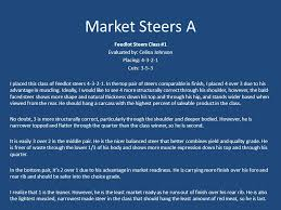 Market Steers A. Feedlot Steers Class #1 Evaluated by: Celina Johnson  Placing: Cuts: I placed this class of feedlot steers In the. - ppt download