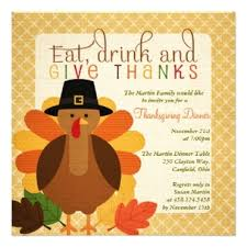 Thanksgiving Invites Personalized Party Invitations Announcements Wow Party