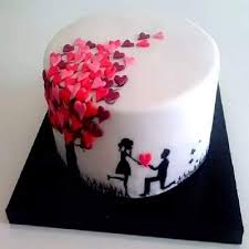 Round Shape Black Forest Designer Cake