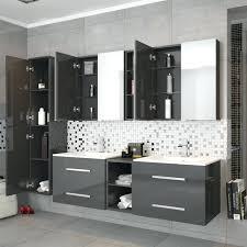 grey vanity bathroom wall hung double basin vanity unit grey at wall hung double