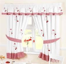 Strawberry Kitchen Curtains Strawberry Sponge Cake White Amp Red Kitchen Curtains Ebay