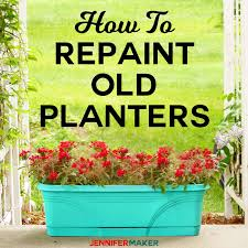 Garden Design Spray Paint How To Spray Paint Plastic Planters Jennifer Maker