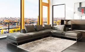 brown italian leather modern sleeper sectional sofa  ftfpgh