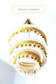 boho chandelier lighting fringe via in honor of design chic uk boho chandelier wood square 4 light chic