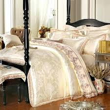white gold jacquard silk cotton luxury bedding set king size queen king size duvet cover sets