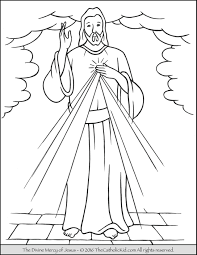 Jesus The Divine Mercy Coloring Page