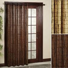 pella s picturesque glass grommet curtains with pella designer series patio door bamboo patio panels interior design pella proline sliding patio door