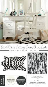 use the zebra allover stencil to recreate this pottery barn teen rug