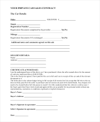 Personal Car Sale Agreement Sample Car Sale Contract Forms 8 Free Documents In Pdf Doc