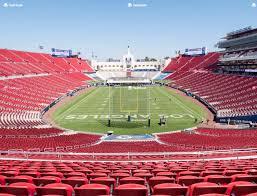 La Coliseum Seating Chart View Los Angeles Memorial Coliseum Section 214 Seat Views Seatgeek