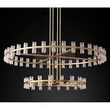 rh arcachon round 2 tier chandelier