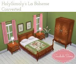 Sims Bedroom Sims 4 Holysimolys La Boheme Bedroom Set Saudadesims With Bed
