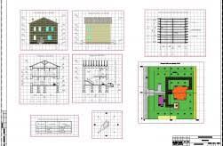Коттеджи дачи бани Скачать чертежи схемы рисунки модели  Курсовая работа по архитектуре двухэтажный жилой дом