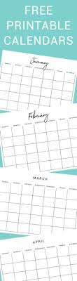 printable calanders free printable calendars thyme is honey