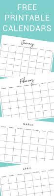 Free Printable Calendars Thyme Is Honey