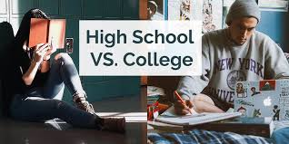 school vs college high school vs college