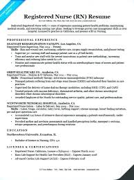 Nursing Resume Examples Magnificent Registered Nurse Resume Sample Nursing Cover Letter Examples Rn